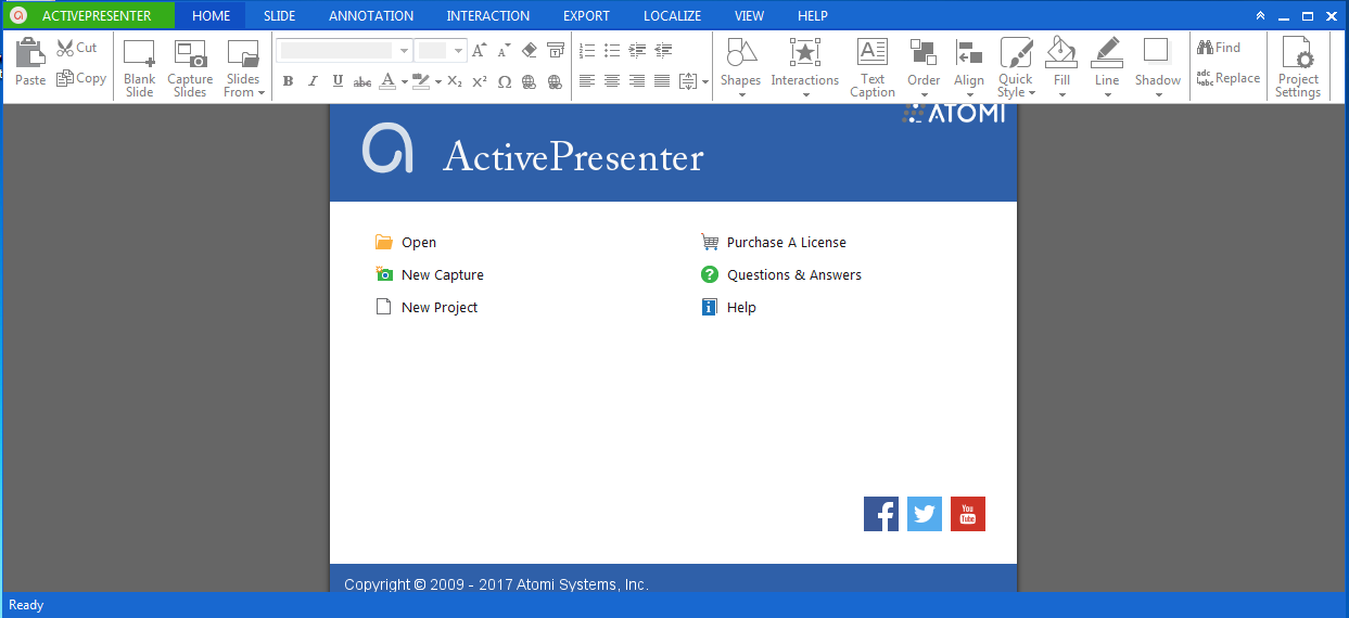 activepresenter-user-interface