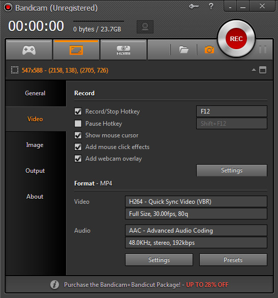 Bandicam-screen-recorder-interface