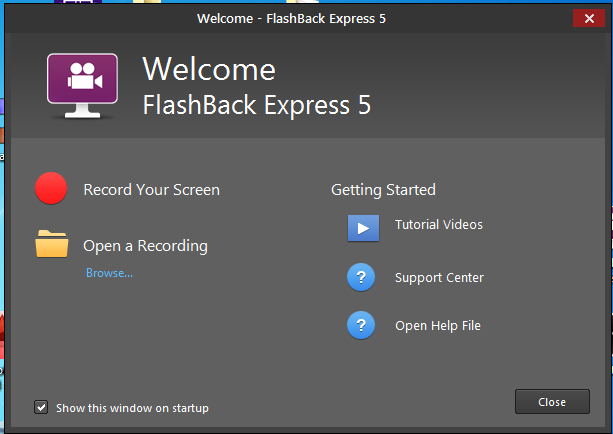 Flash Back Express Free Screen Recorder