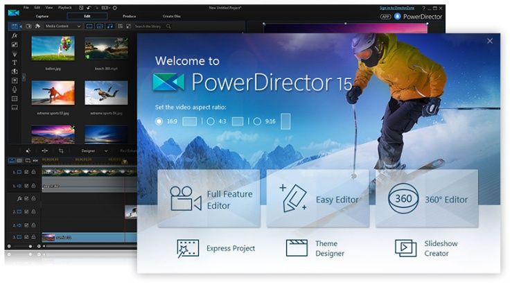 PowerDirector 15 video editor