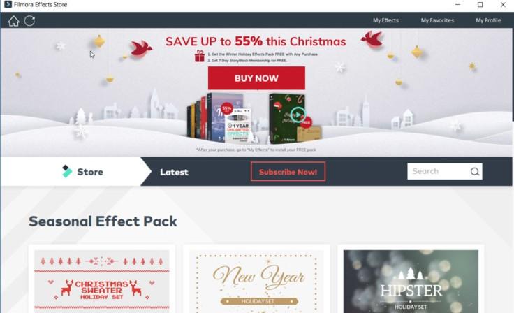 Filmora Effects Store