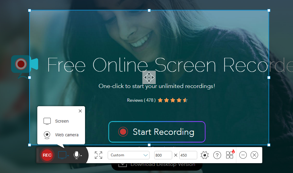 apowersoft free screen recorder interface