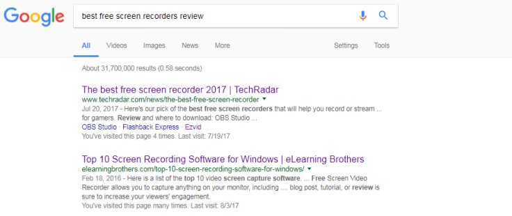 best-free-screen-recorder-search