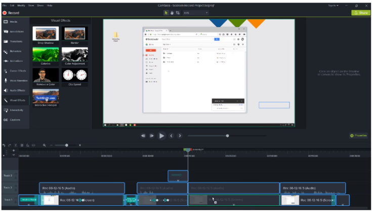 Camtasia studio 9 effects