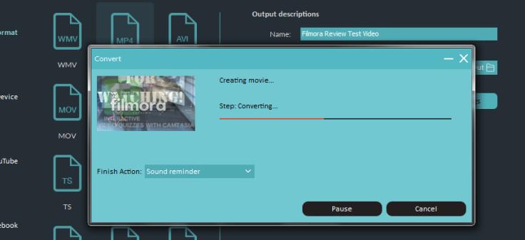 Filmora Exporting video-min