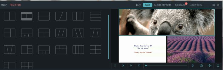 Filmora split screen option-min