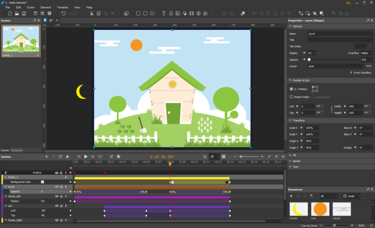 saola-animate-interface