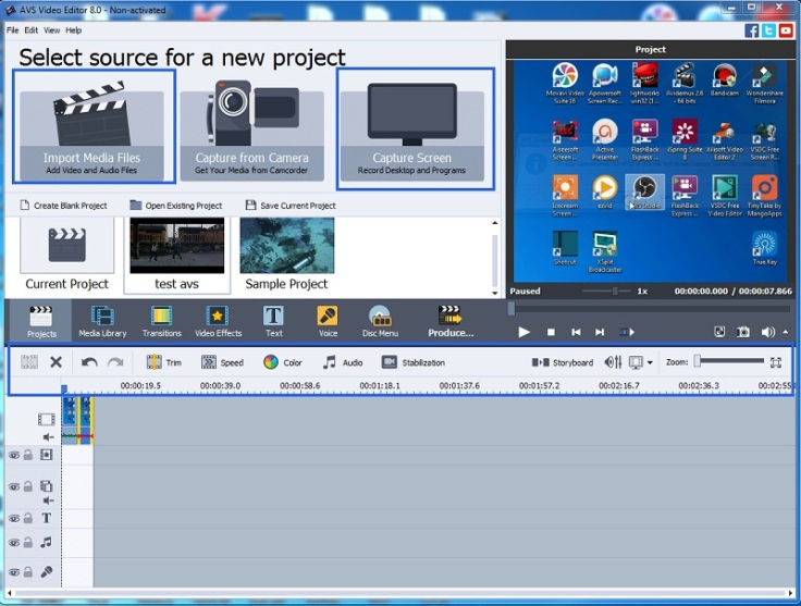 AVS video editor interface1