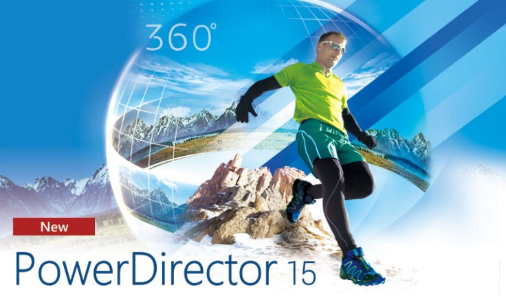 PowerDirector 15 film editing software