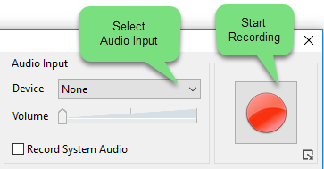 Selete input audio