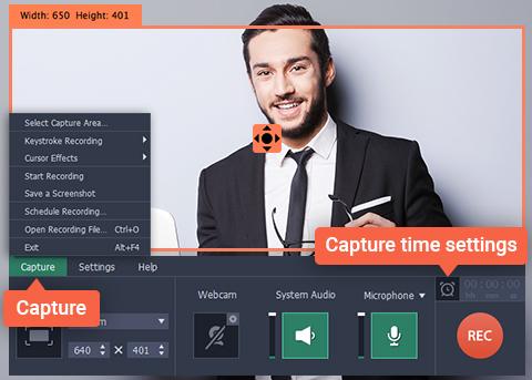 Movavi-screen-recorder-Capture-time-setting
