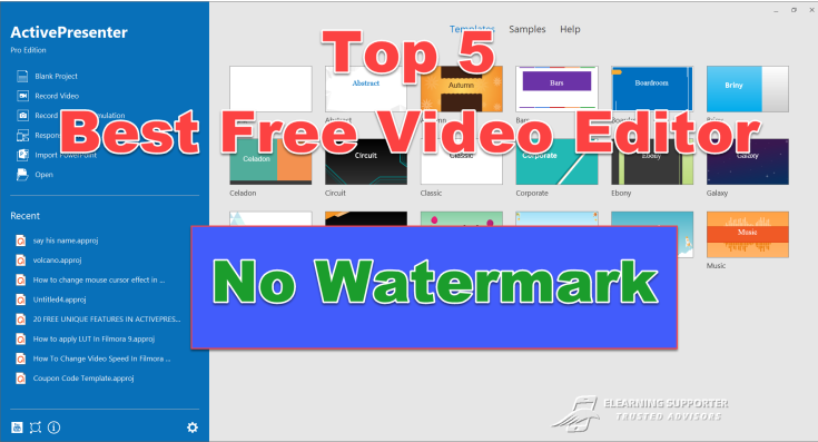 Top 5 Free Video Editor No Watermark