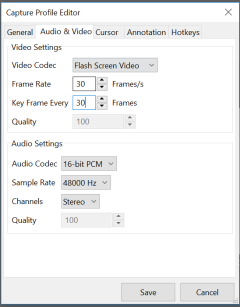 Audio and video setting
