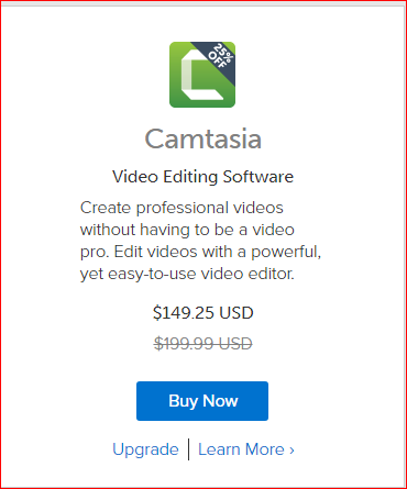 Camtasia Cyber Monday Deal