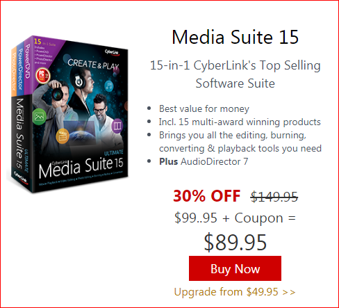 Cyberlink Media Suite Black Friday