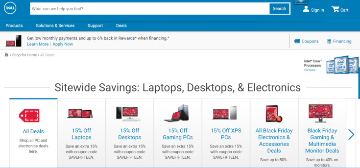 Dell Cyber Monday Store