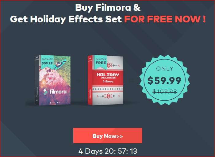 Filmora Holiday Effect Set Black Friday