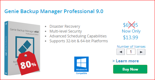 Genie Backup Manager Professional 9 Black Friday