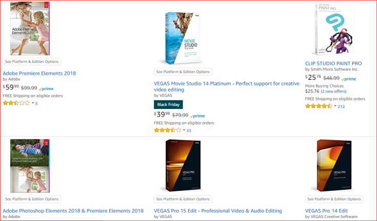 Video editors Amazon store1