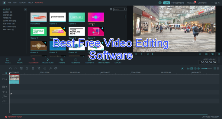 best free video editing software for pc 2017