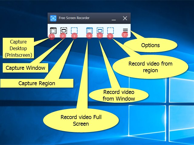DVDVideoSoft free screen recorder interface