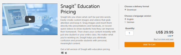 Snagit education