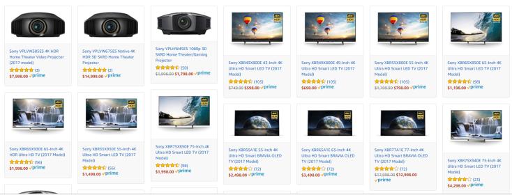 Sony 4K TVs deals