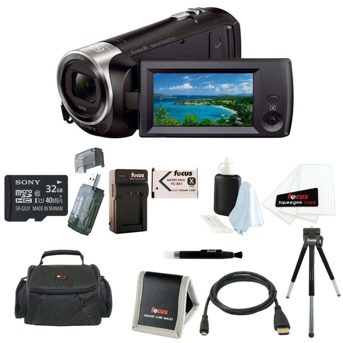 Best Deals Today: 31% OFF Sony HDR-CX405/B Handycam HD ...