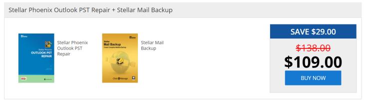 Stellar Phoenix Outlook PST Repair + Stellar Mail Backup
