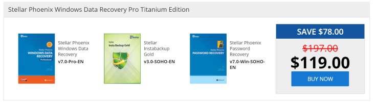 Stellar Phoenix Windows Data Recovery Pro Titanium Edition