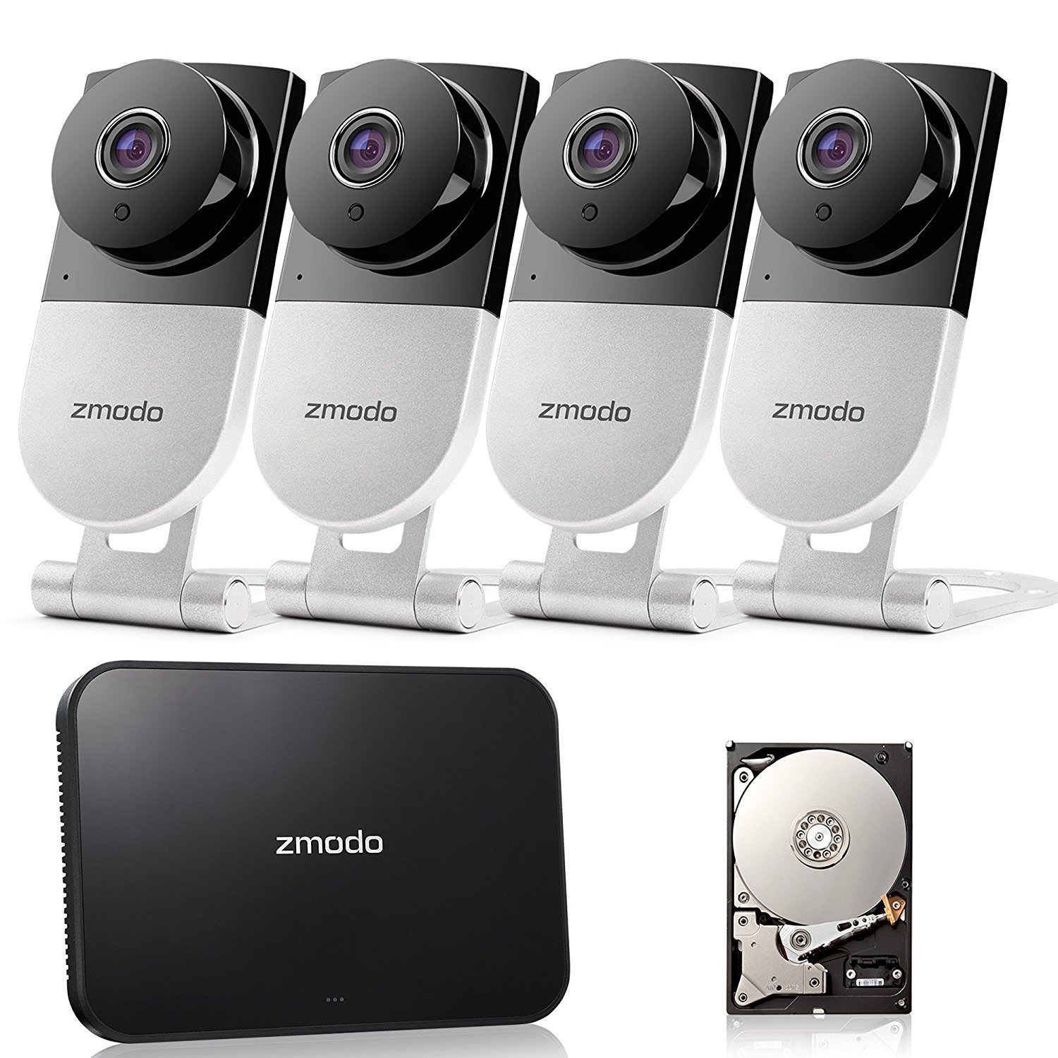 59% OFF Zmodo 720p HD Wireless Smart Home Surveillance Camera System
