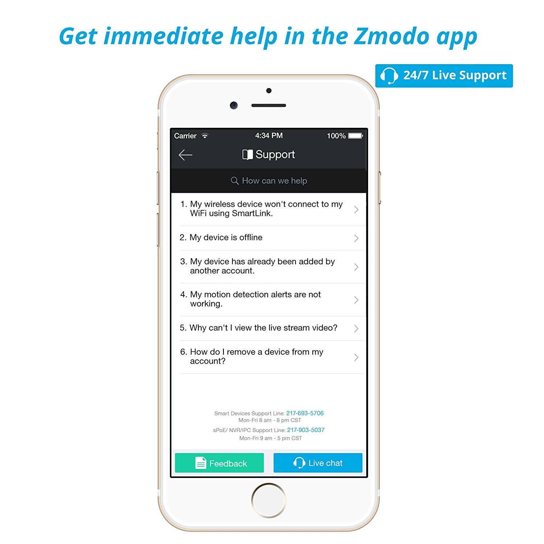 59% OFF Zmodo 720p HD Wireless Smart Home Surveillance Camera System