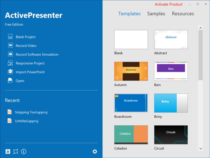 ActivePresenter 7 Interface