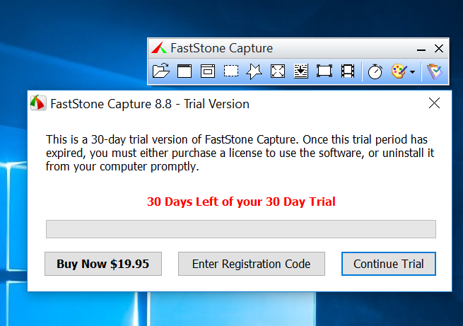 faststone capture free trial download