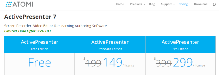 ActivePresenter Pricing