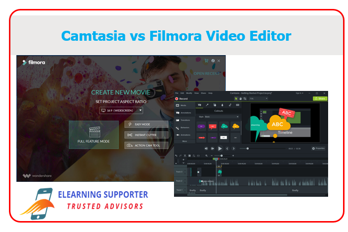 Camtasia vs Filmora video editor
