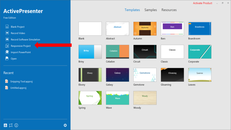 Create Responsive Project ActivePresenter