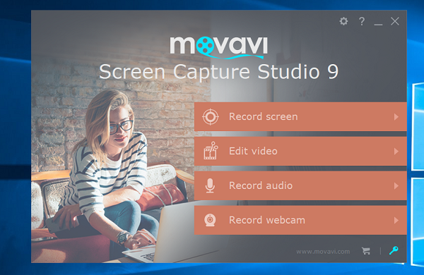 Movavi Screen Capture Studio interface