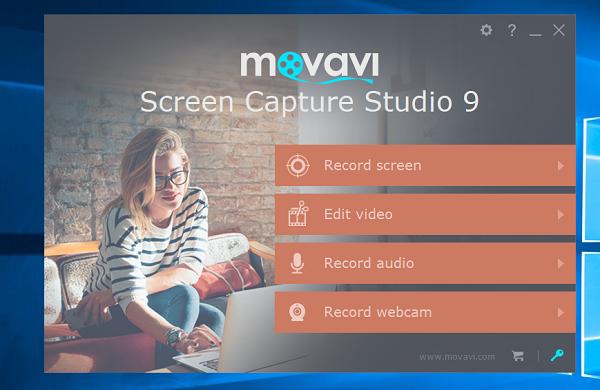 Movavi Screen Capture Studio 9 interface