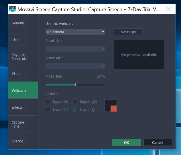 screen capture webcam