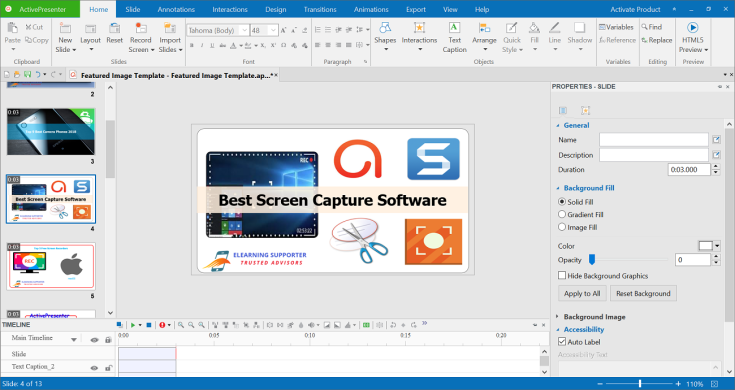 ActivePresenter Screen Capture and Video Editor