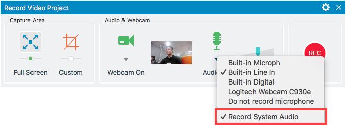 ActivePresenter Recording Toolbar on macOS