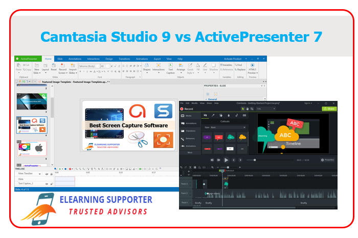 Camtasia 9 vs ActivePresenter 7