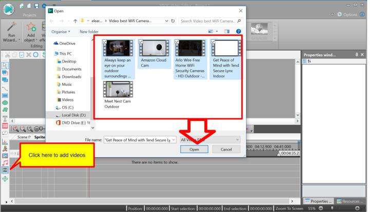 Add videos into the editor