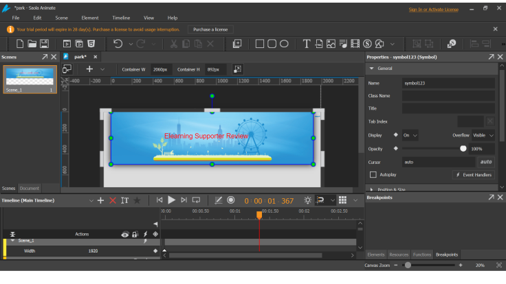 Saola Animate 2 Interface