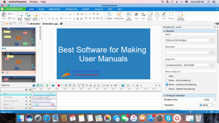 Best software for making user manuals