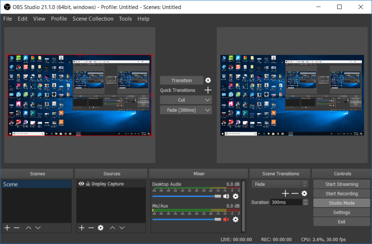 OBS Studio Recording Software