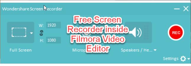 filmora video recorder