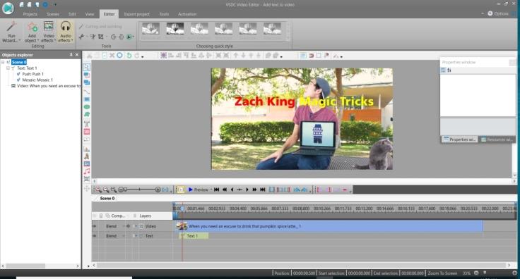 VSDC Animating Texts on Video