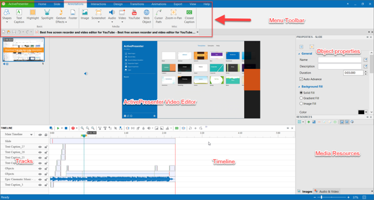 ActivePresenter Video Editor